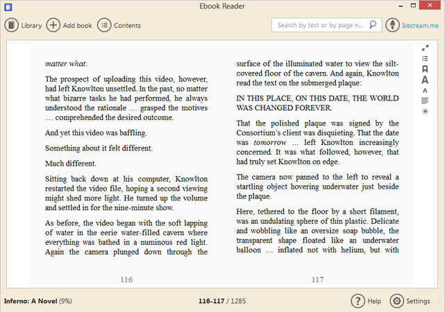 Resultado de imagen para Icecream Ebook Reader Pro