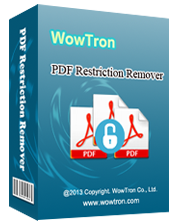 WowTron PDF Restriction Remover 1.1.1 Giveaway