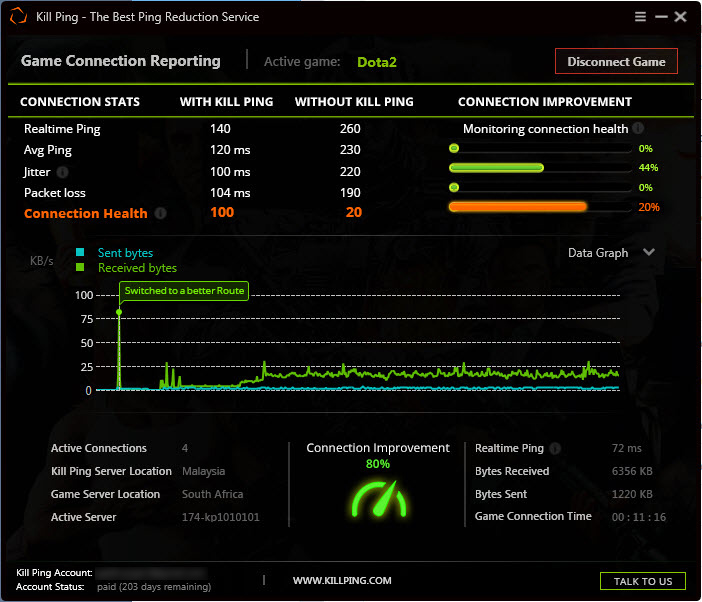Kill Ping - World's best ping boosting and lag reduction application