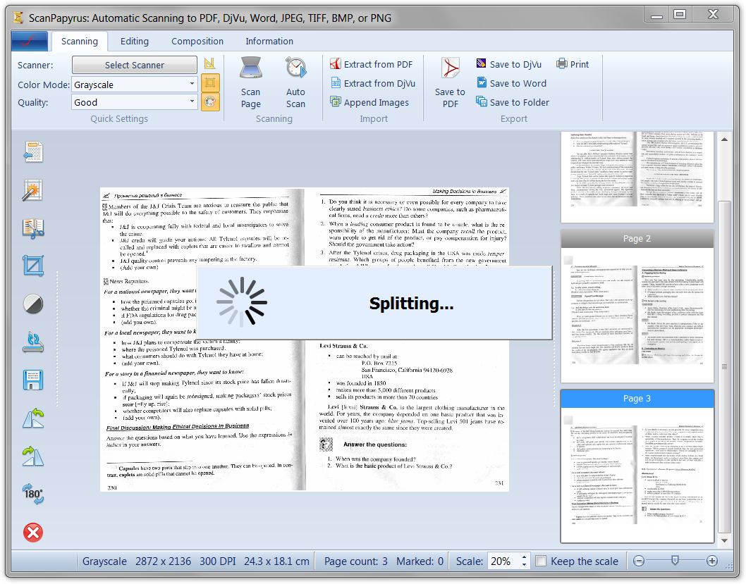 how to make scanned documents into pdf