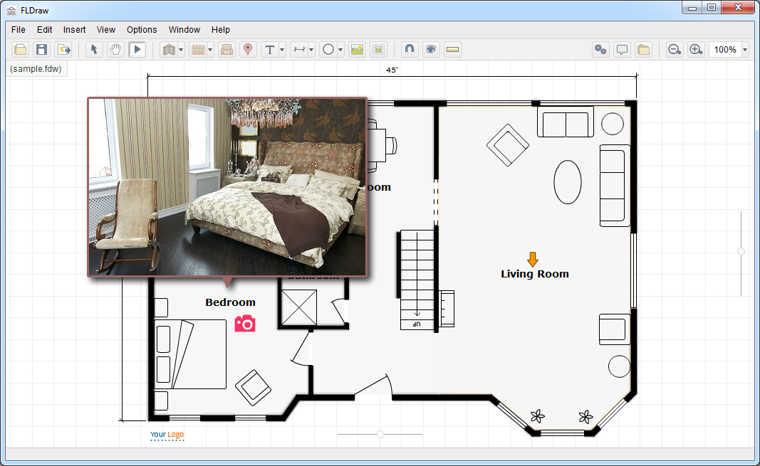 Elegant FLDraw is an easy to use software for creating interactive floor plans for web u mobile The published files are HTML JavaScript based and can be viewed on