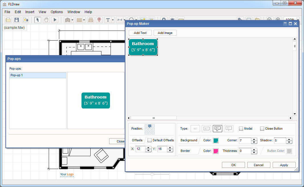 Giveaway of the day free licensed software daily floor for Interactive floor plan software
