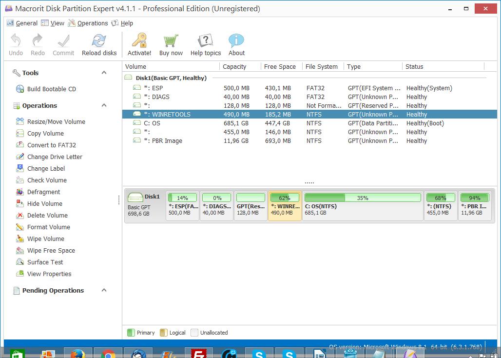 macrorit disk partition expert.