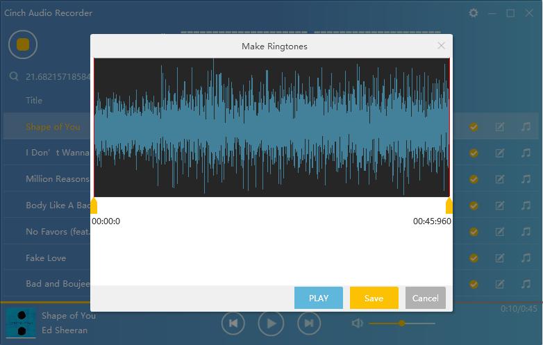 free cinch audio recorder discount