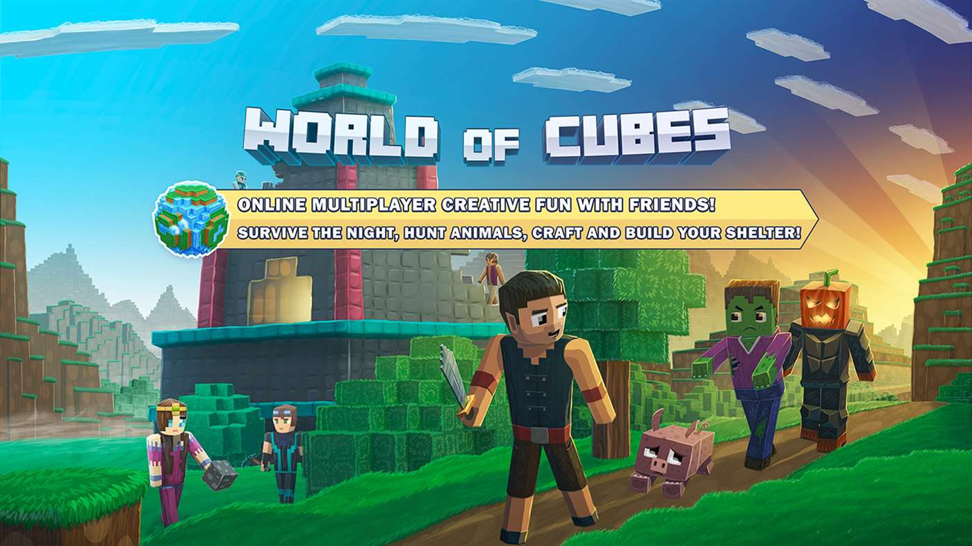 World of cubes survival craft create your own worlds for Survival crafting games pc