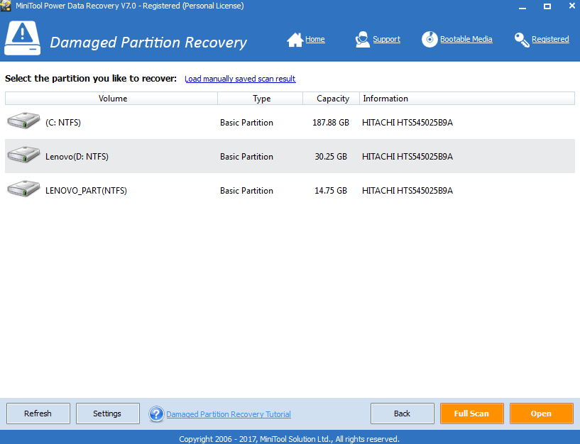 minitool power data recovery 7.0 license code