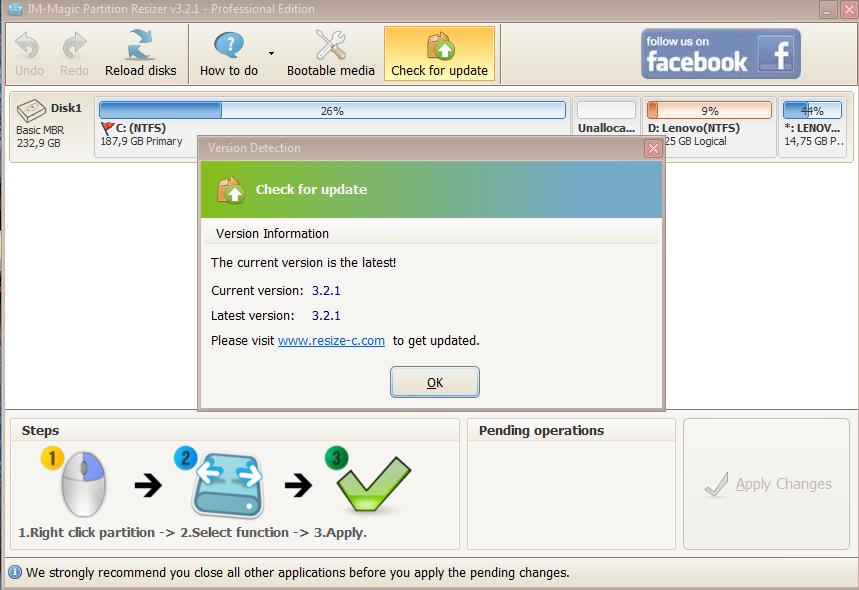 PM Hệ thống - IM-Magic Partition Resizer Pro 3.2.4   VN-Zoom   Cộng đồng  Chia Sẻ Kiến Thức Công Nghệ và Phần Mềm Máy Tính