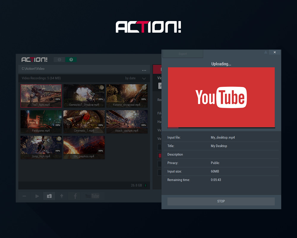 Action! - The most advanced screen recorder and gameplay recording