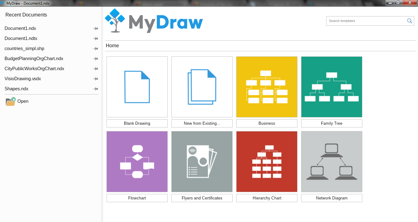 Giveaway of the day free licensed software daily mydraw 20 this diagram software includes powerful features to help you create flowcharts org charts mind maps network diagrams floor plans general business ccuart Gallery