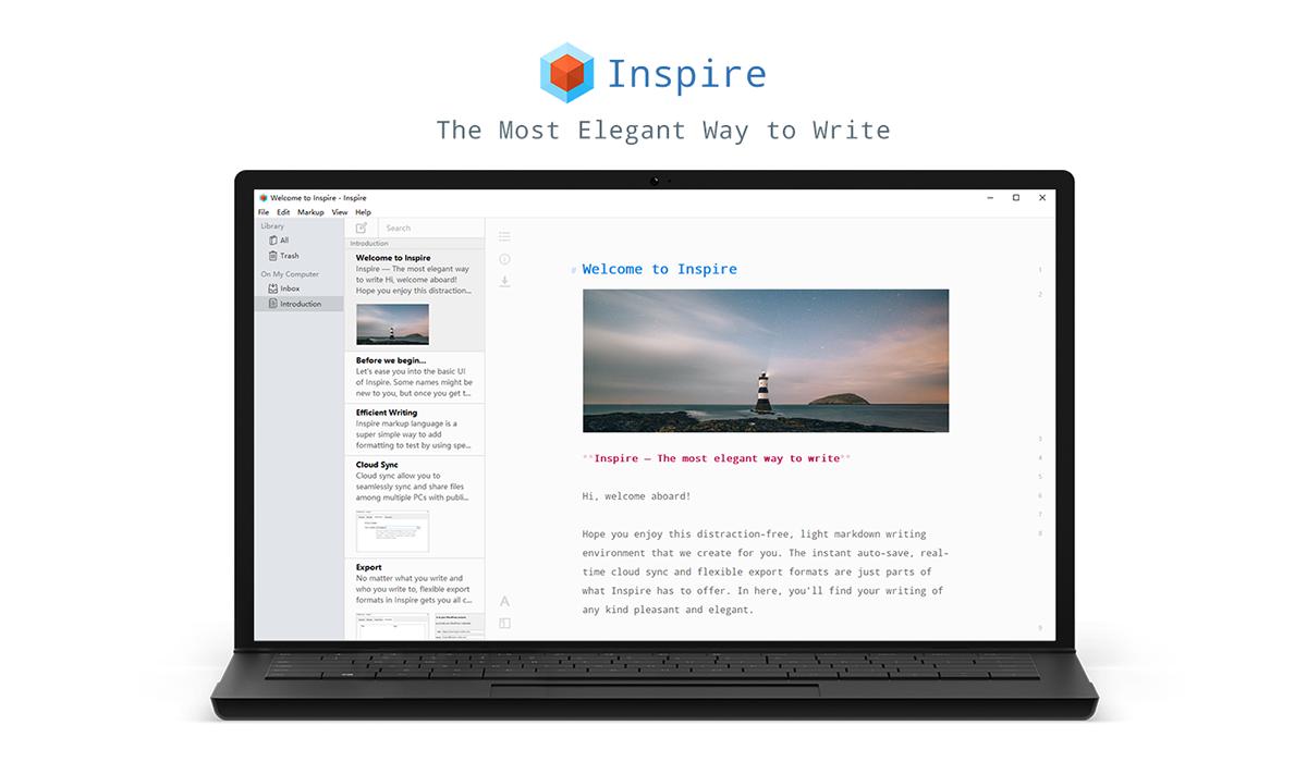 تحميل برنامج Inspire 2.6.0 الاحترافى للكتابة للكمبيوتر مجانا 2019