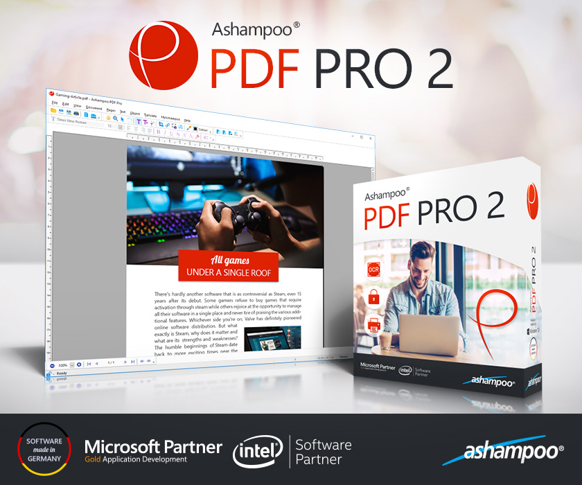 Ashampoo PDF Pro 2 - The universal PDF editor - create, edit