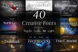 40  Creative Fonts Giveaway